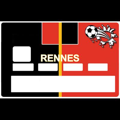 Sticker pour carte bancaire, Football, Rennes