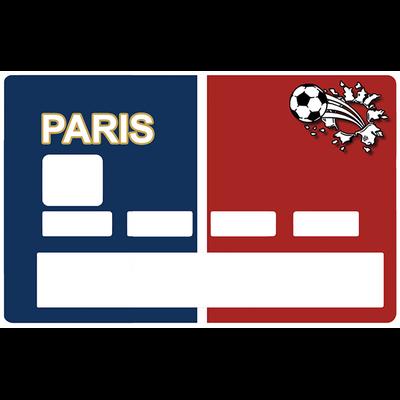 Sticker pour carte bancaire, Football, Paris