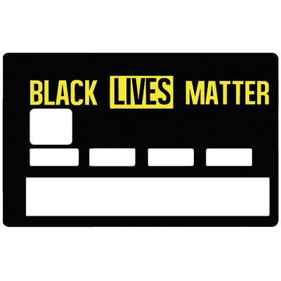 Sticker pour carte bancaire, BLACK LIVES MATTER