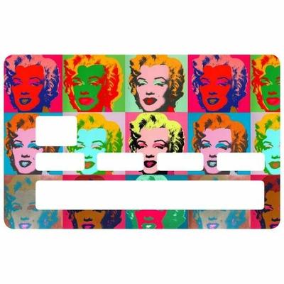 Sticker pour carte bancaire, hommage à Marilyn Monroe