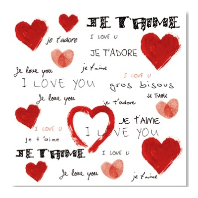 I love You, 100 cm x 100 cm