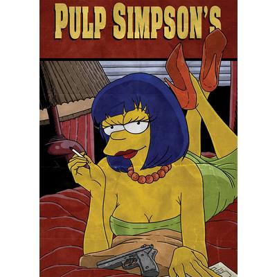 Pulp Simpson's de Damien Garavagno Dim: 50 cm x 70 cm,