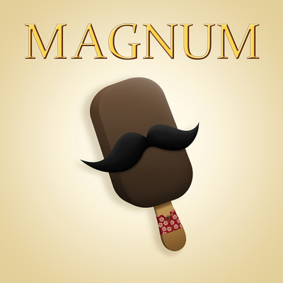 Magnum, de Damien Garavagno, 40 cm x 40 cm