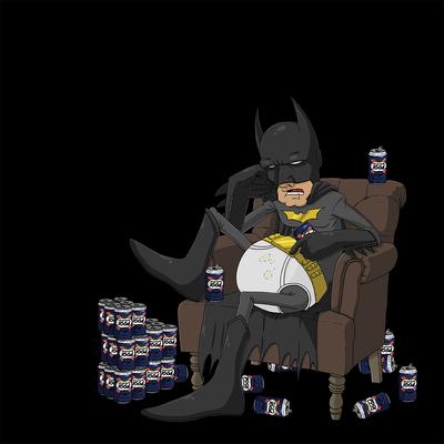 Impression photo sur toile, 40 cm x 40 cm, Batman Hangover