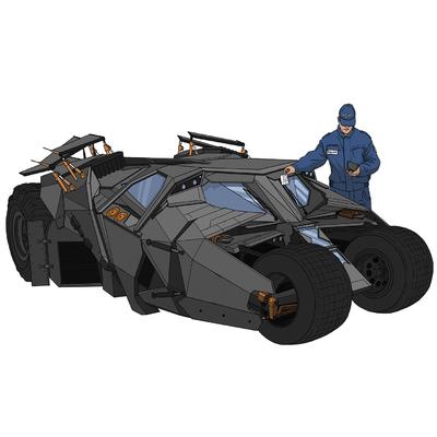 Batmobile,  Dim: 50cm x 50 cm
