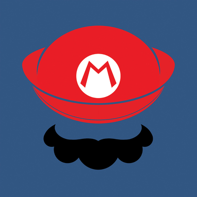 Mario, Dim:  40 cm x 40 cm