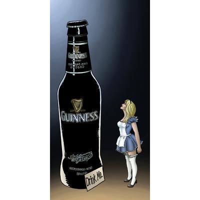 Impression sur toile, Alice drink me, 50 cm x 100 cm