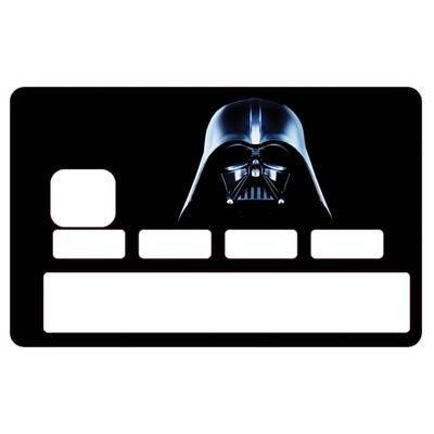 Stickers décoratif pour carte bancaire, Dark Vador