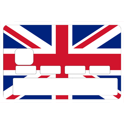 Sticker pour carte bancaire, Drapeau Anglais, Union Jack