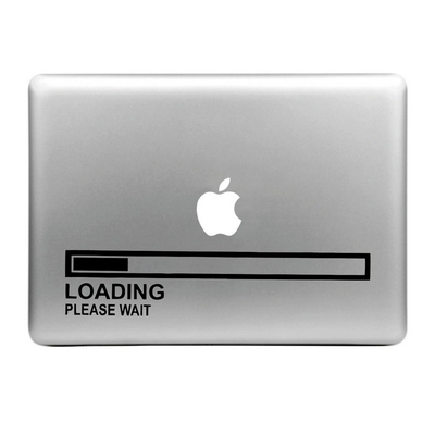 Sticker pour MacBook, LOADING please wait