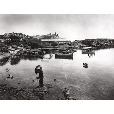 Impression photo sur toile, Antibes vu du Cap vers 1890
