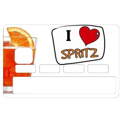 Sticker pour carte bancaire, I Love SPRITZ