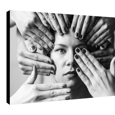 Impression photo sur toile, Les mains et la Belle, par la photographe Sylwia bernat