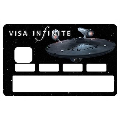 Stickers décoratif pour carte bancaire, VISA INFINITE et au dela , crée par le DgedeNice