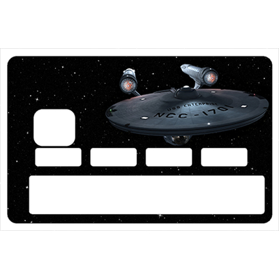 Sticker pour carte bancaire, Star trek enterprise