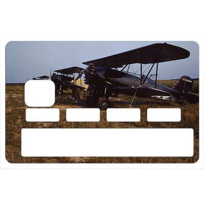 Stickers décoratif pour carte bancaire, Biplan US 1916