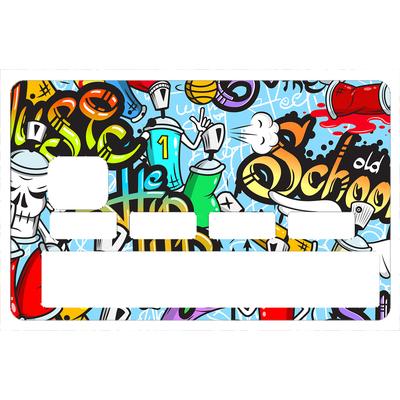 Stickers décoratif pour carte bancaire, GRAFFITI BOMB 2016 , crée par le DgedeNice