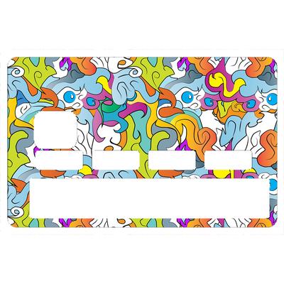 Stickers décoratif pour carte bancaire, Graffiti Strange 2016 , crée par le DgedeNice