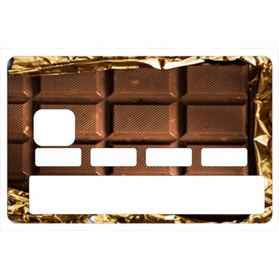 Sticker pour carte bancaire, Tablette de chocolat