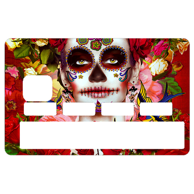 Sticker pour carte bancaire, Calavera 2016