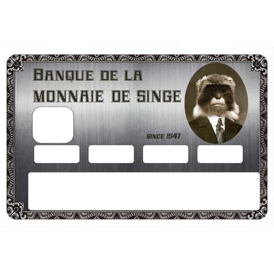 Stickers décoratif pour carte bancaire, MONNAIE DE SINGE , crée par le DgedeNice