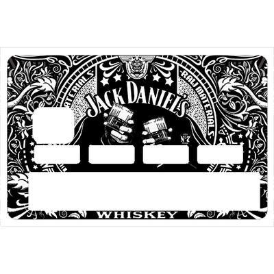 Sticker pour carte bancaire,hommage à I Love JACK DANIEL'S