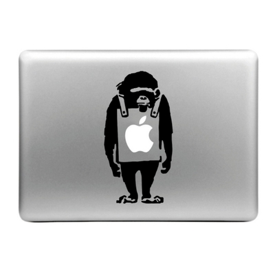 Sticker pour MacBook, singe sandwich