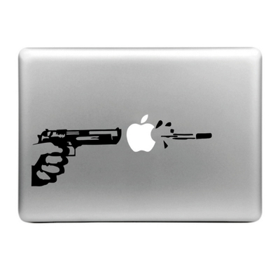 Sticker pour MacBook, pistolet automatique