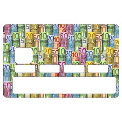Stickers décoratif pour carte bancaire, Les Euros , crée par le DgedeNice