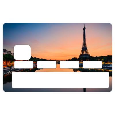 Stickers décoratif pour carte bancaire, Paris et la tour Eiffel, par le DgedeNice
