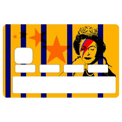 Sticker pour carte bancaire, hommage à Bowie Vs Banksy