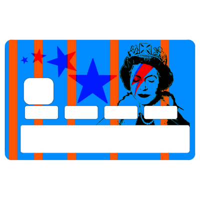 Sticker pour carte bancaire, Tribute to Bowie Vs Banksy Vs Elisabeth