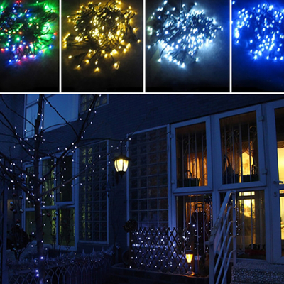 Guirlande lumineuse, SOLAIRE, multicolor 100 LED, eclairage fixe ou clignotant