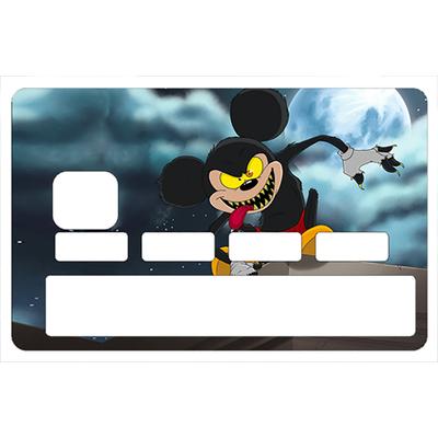 Stickers décoratif pour carte bancaire, MICKEY GAROU- crée par Damien Garavagno