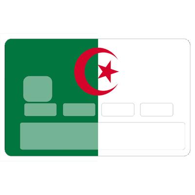 Stickers décoratif pour carte bancaire, ALGERIE