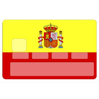 Sticker pour carte bancaire, ESPAGNE
