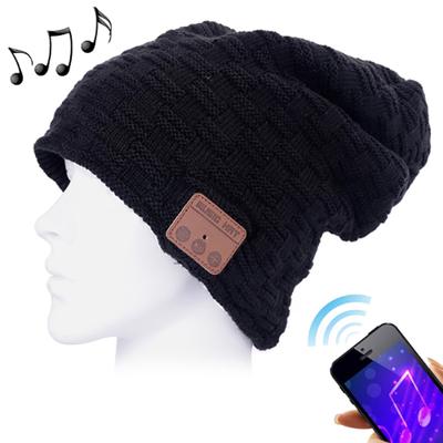 Bonnet avec écouteurs intégrés, main libre sans fil, bluetooth