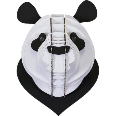 Trophée animalier, Puzzle 3D en carton à monter, le Panda