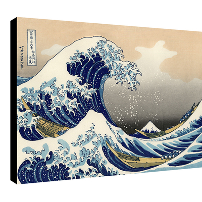 Impression photo sur toile, La Grande Vague de Kanagawa de Hokusai
