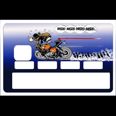 Stickers décoratif pour carte bancaire, Merde, Merde, Merde.., edition limitée 100 ex