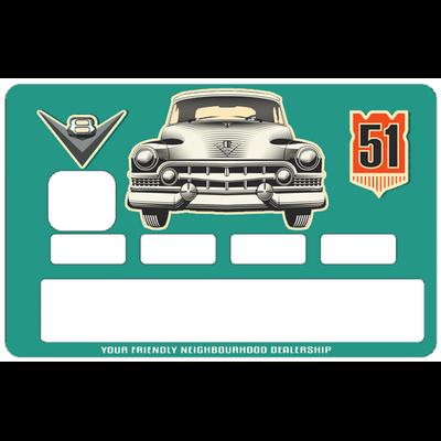 Stickers décoratif pour carte bancaire, Cadillac 52, par le DgedeNice