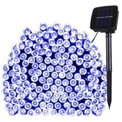 Guirlande lumineuse LIGHT BLUE, SOLAIRE,  100 LED, eclairage fixe ou clignotant - L. 11,90 m