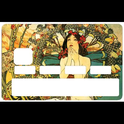 Stickers décoratif pour carte bancaire, la Femme Art Deco