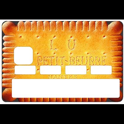 Stickers décoratif pour carte bancaire, le Petit beurre de LU revu par le DgedeNice