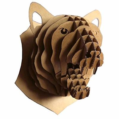 Trophée animalier, Puzzle 3D en carton à monter, Rose la panthére
