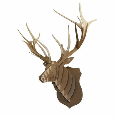 Trophée animalier, Puzzle 3D en carton à monter, Marius le cerf