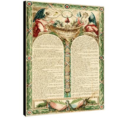 La déclaration des droits de l'homme et du citoyen 1793, Dim. 70 cm x 50 cm
