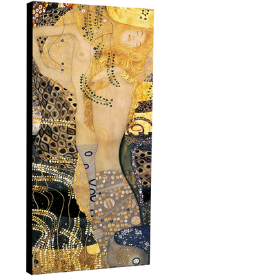 Wasserschlangen I (Freundinnen I) : Hydre par Gustav Klimt 30 cm x 70 cm