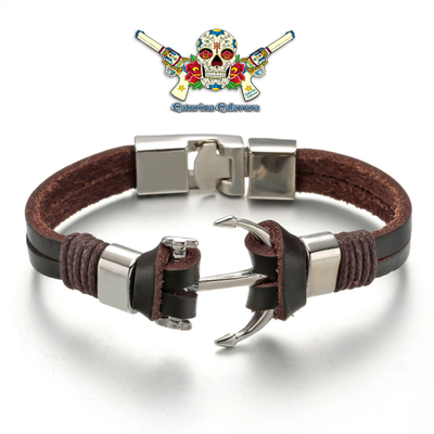 Bracelet Homme en cuir, SAINT TROPEZ Brown