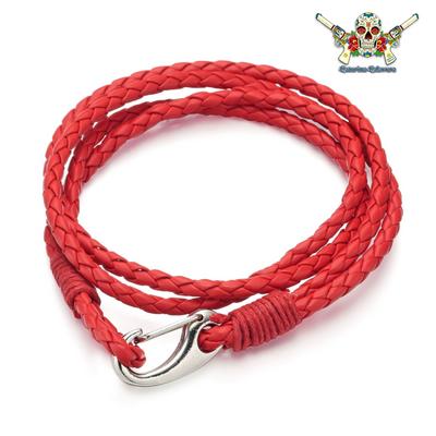 Bracelet Homme, CAP HORN, 2 tours rouge